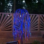 Illuminated willow tree feature