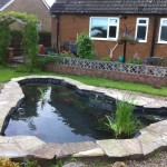 Relined informal pond